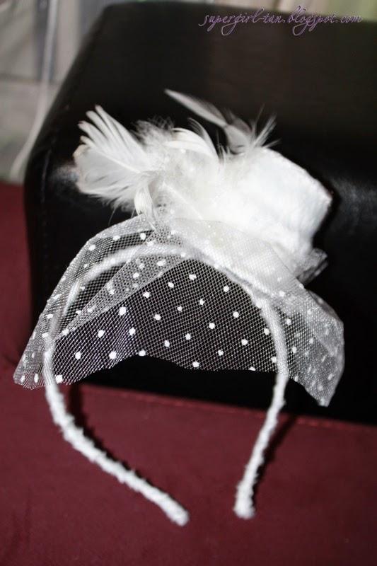 шляпка с вуалью на ободке