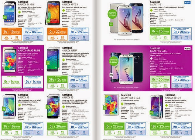 Precios de todos los móviles Yoigo de contrato en abril 2015