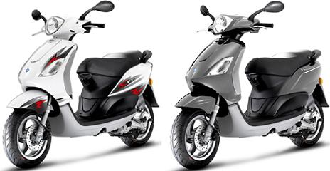 Piaggio Fly 50 4V - white black colors