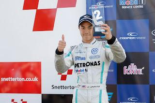 Jazeman Jaafar Snetterton British F3  2012 podium (2nd)