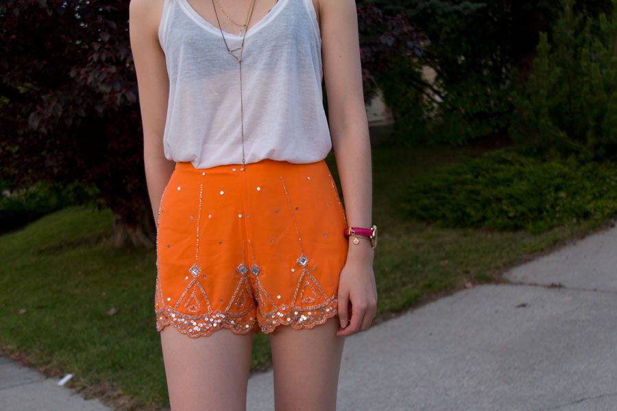 embellished shorts, summer fashion, boohoo clothing,