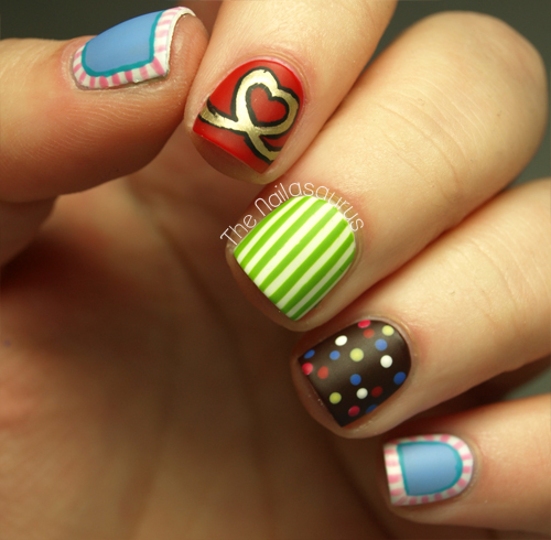 Easy To Do For Short Nails Nail Designs: Candy Crush Nail Art - The Nailasaurus