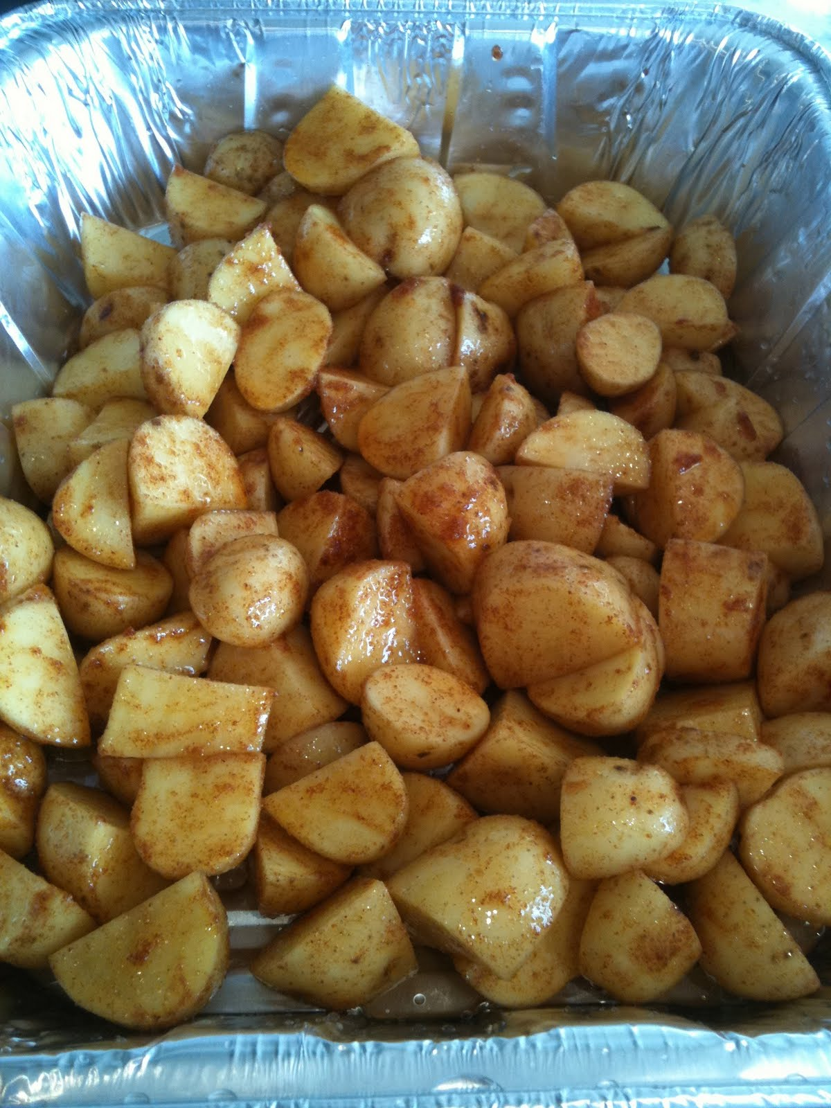 Unslimming World: Spicy Baby Potatoes
