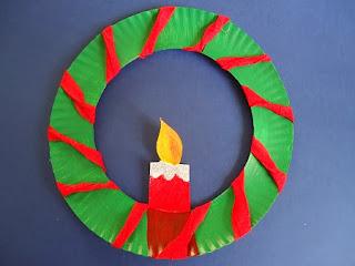 Decoracion de Navidad con Platos Descartables