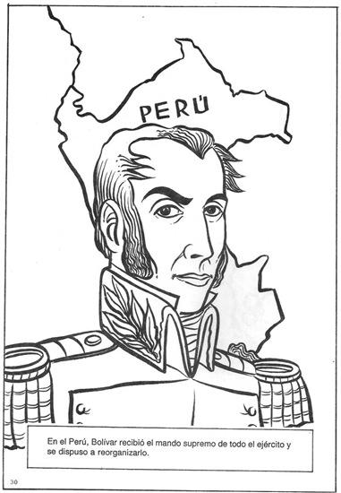 Simon Bolivar como dictador de Per  Dibujo