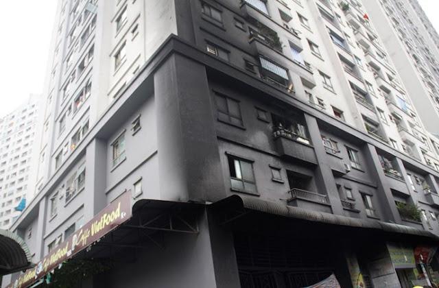 Cháy chung cư Xala