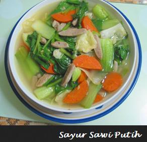 Resep Sayur Sawi Putih Dan Cara Membuatnya