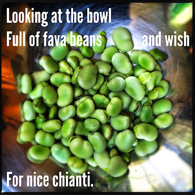 Looking at the bowl / full of fava beans and wish / for nice Chianti. // haikumages