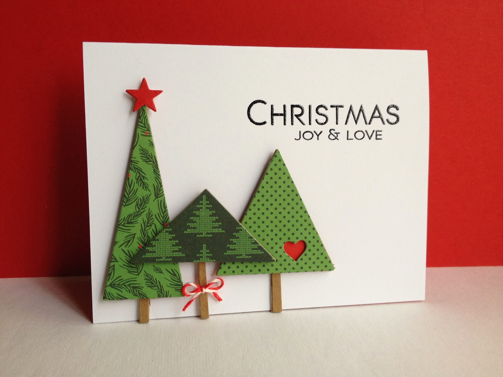 Leaning Tree Christmas Cards