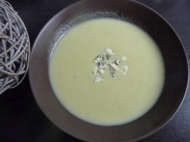 Papilles on off soupe de courgettes au bleu d 39 auvergne au thermomix - Soupe de brocolis thermomix ...