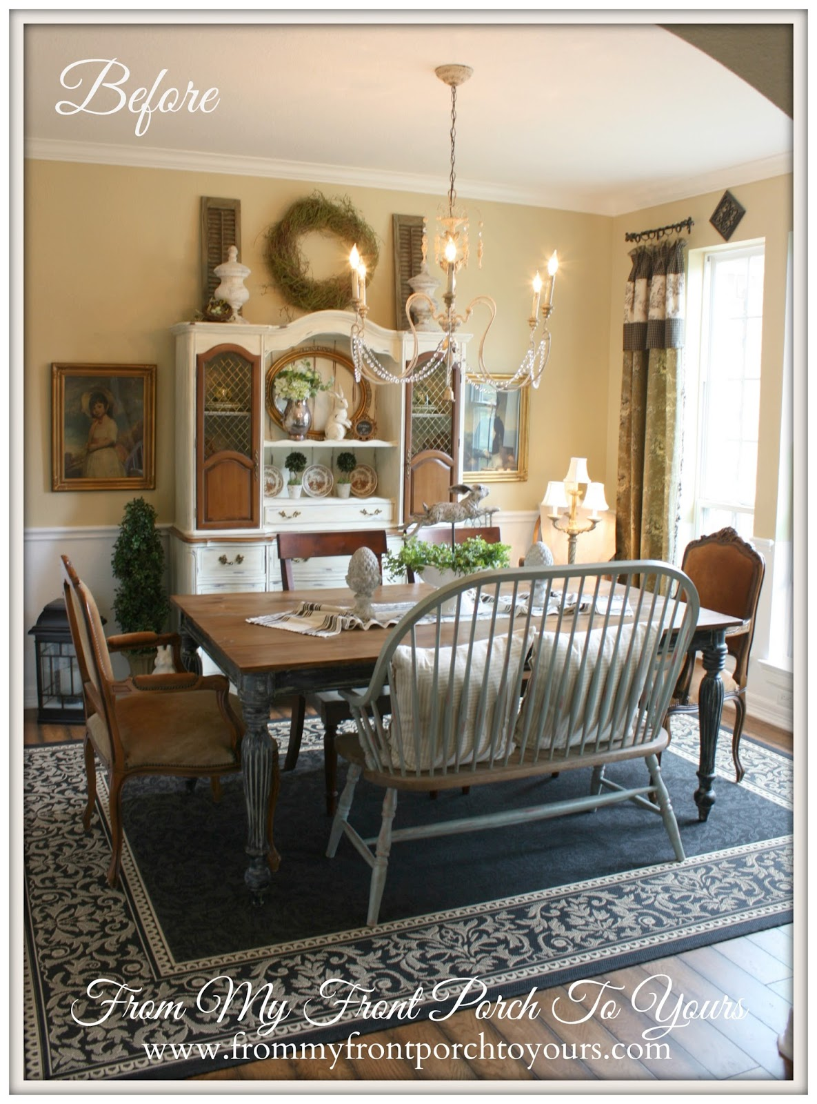 From My Front Porch To Yours French Farmhouse Dining Room