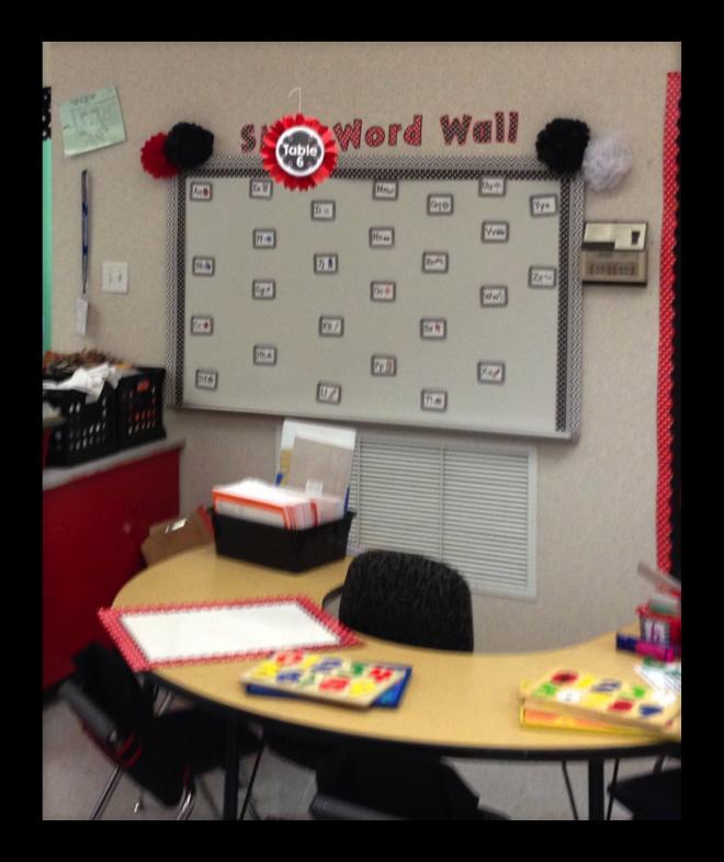 kindergarten writing, writing center, word wall, winter vocabulary
