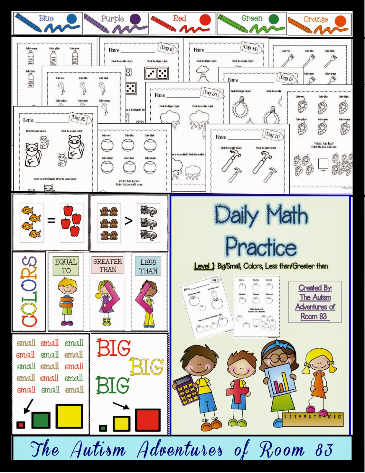 math worksheet : adapting math worksheets!  the autism adventures of room 83 : Math Worksheets For Special Education Students