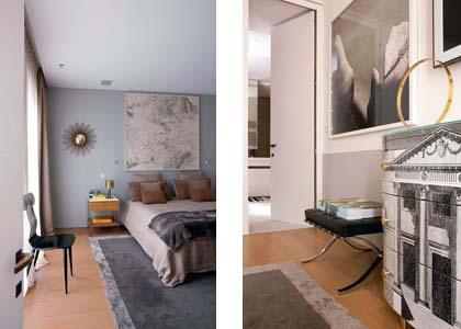 Un loft da sogno a parigi arredamento facile - Pareti camera da letto grigio perla ...