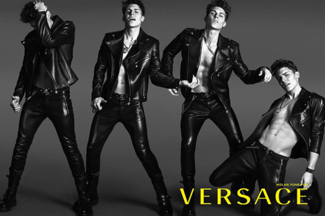 Nolan Funk for Versace Spring/Summer 2014 Campaign