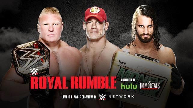 WWE - ROYAL RUMBLE 2015 - WWE Championship - Brock Lesnar vs. John Cena vs. Brock Lesnar