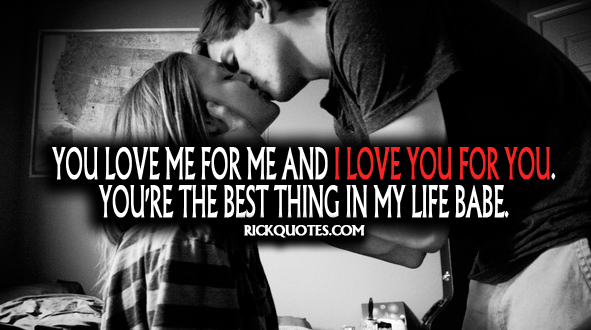 Love You Quotes | You're The Best Thing In My Life Babe Couple Love Kiss Hug