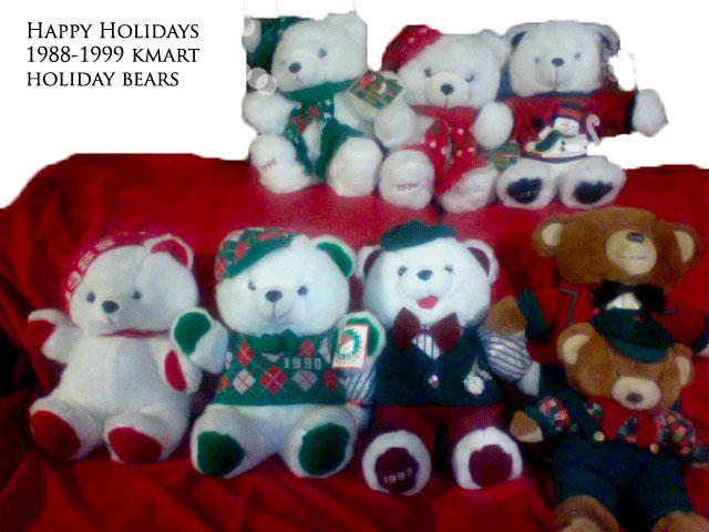 happy holidays from kmart christmas bear 1988 1999