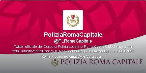 Twitter oficial da Policia de Roma