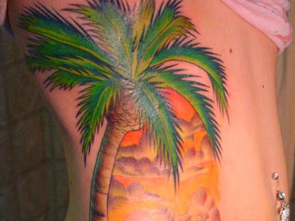 tattoo gallery for men palm tree tattoo. Black Bedroom Furniture Sets. Home Design Ideas