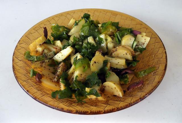 πατατοσαλάτα, ρόκα, συνταγές με ρόκα, συνταγές με πατάτες βραστές