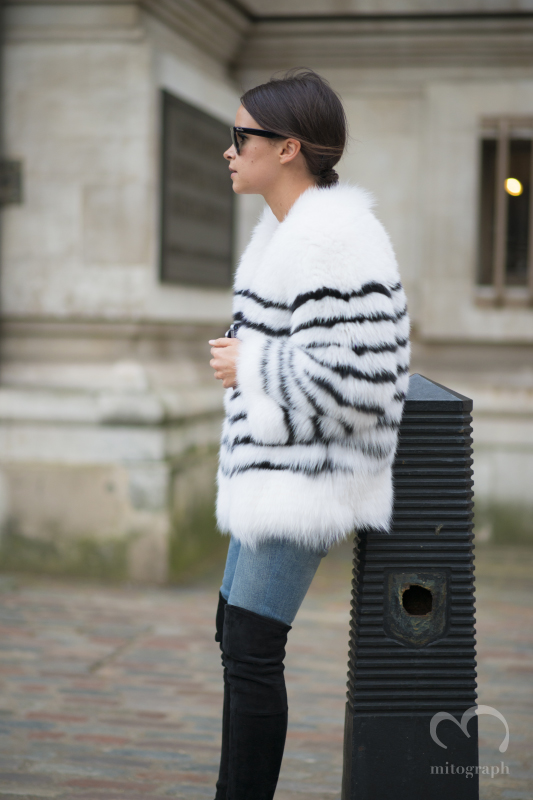 Miroslava Duma at London Fashion Week LFW