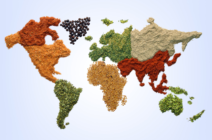 Foods from around the world display