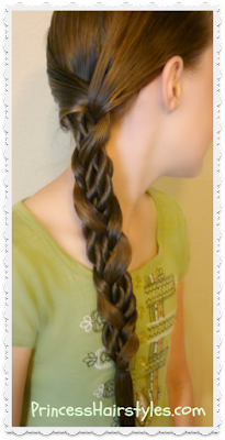 Easy side braid tutorial. Mosaic twist braid video.
