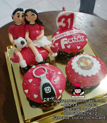 Cupcake Manchester United Couple Love