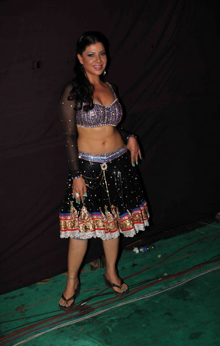 sambhavna seth poses after live dance performance latest photos