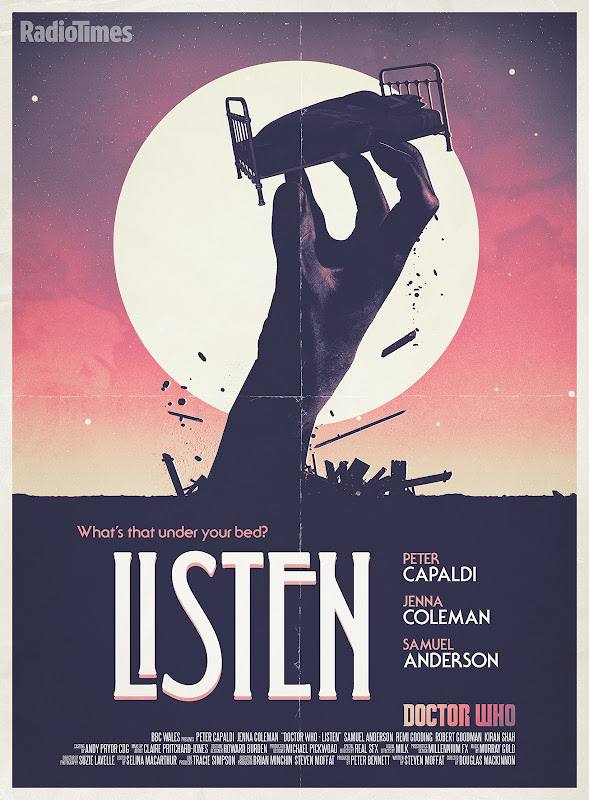 Doctor Who Listen retro poster