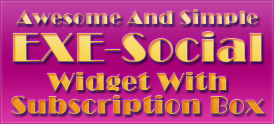 Awesome And Simple Softwaresntrick-Social Widget With Subscription Box