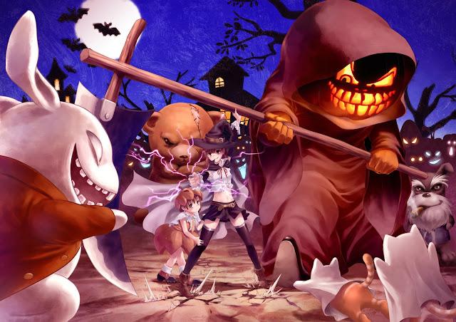 Halloween Death scythe fighting grin smile anime hd wallpaper desktop pc wallpaper a70