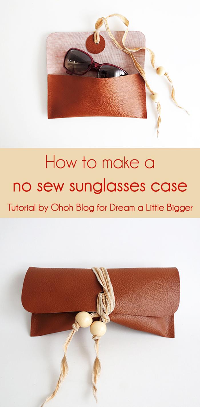 How to make a no sew sunglasses case