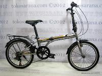 Sepeda Lipat Laux Venice 7 Speed Shimano 20 Inci