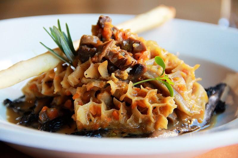 Savoury tripe with mushrooms