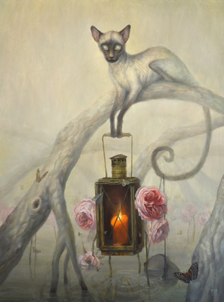 martin wittfooth illustration cat