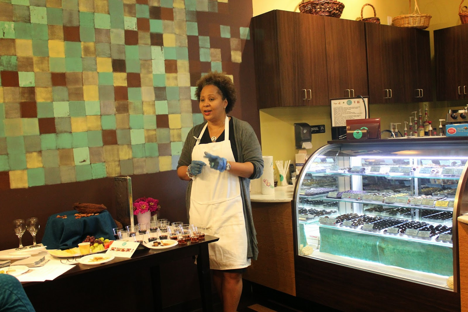 Chocolate Therapy owner Pam Griffin
