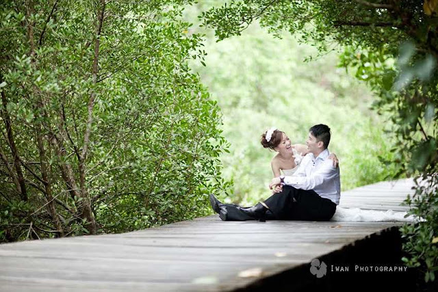 contoh foto pre wedding di alam