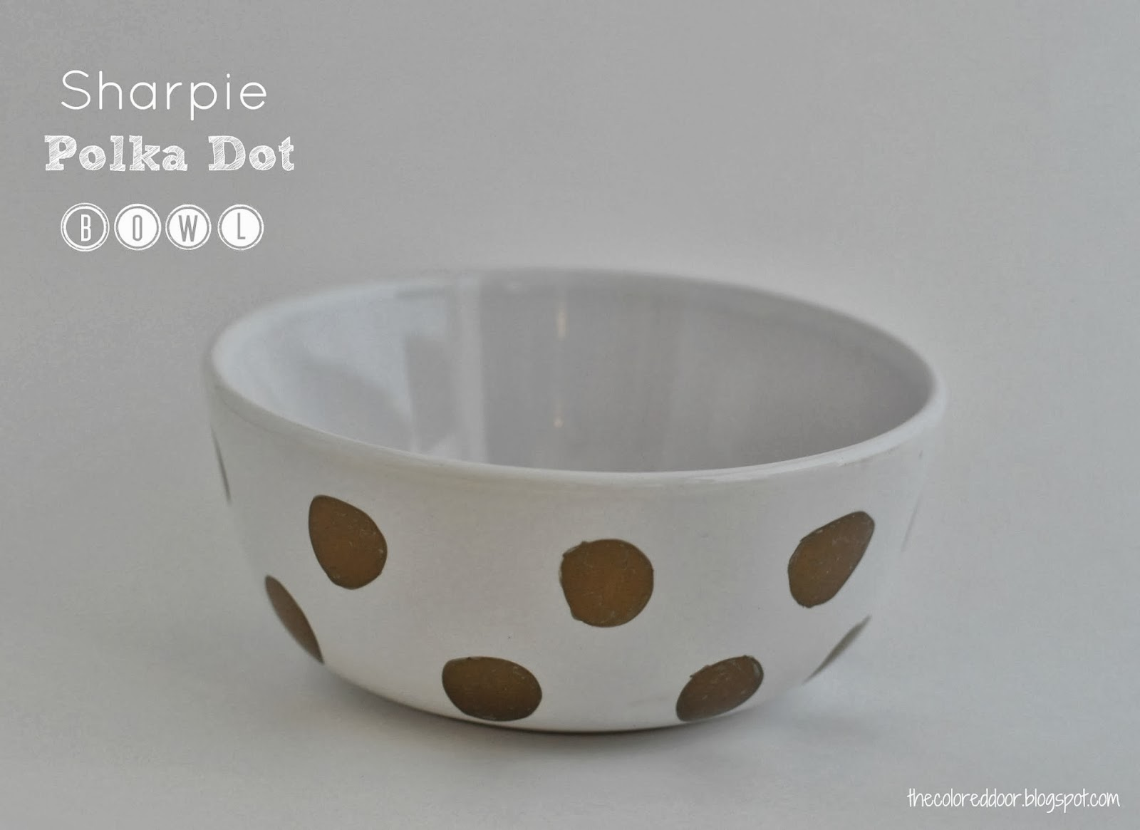 easy sharpie polka dot bowls - the colored door