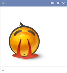 Nose Bleed Facebook Emoticon