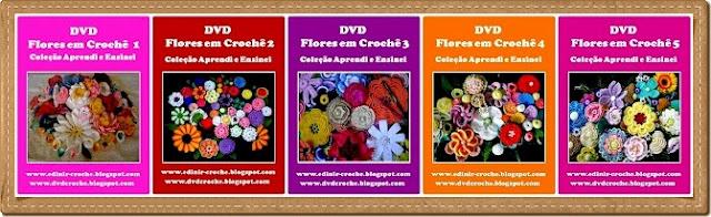dvd flores em croche da coleção aprendi e ensinei com edinir-croche video aulas blog loja frete gratis