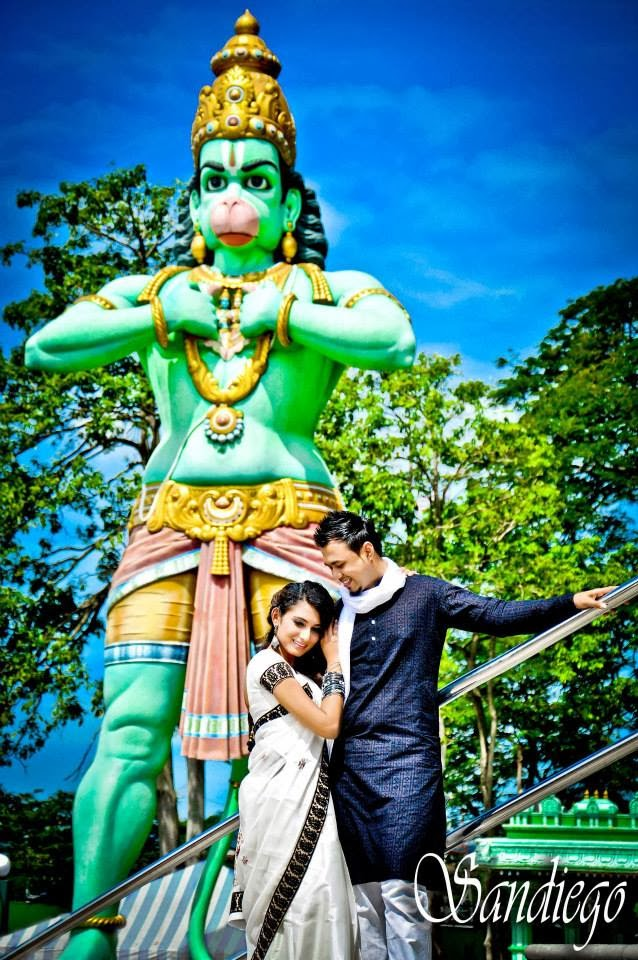 prewedding shot at the temple