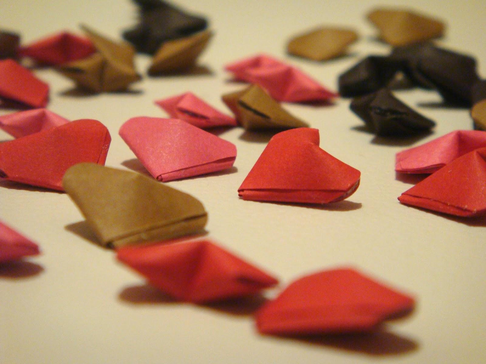 coração origami decoração casamento