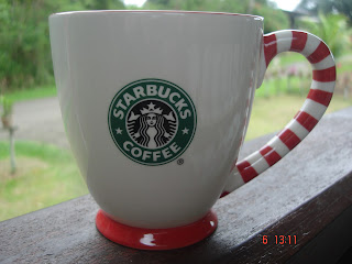 A Cup A Day 2008 Starbucks Christmas Holiday Candy Cane Mug