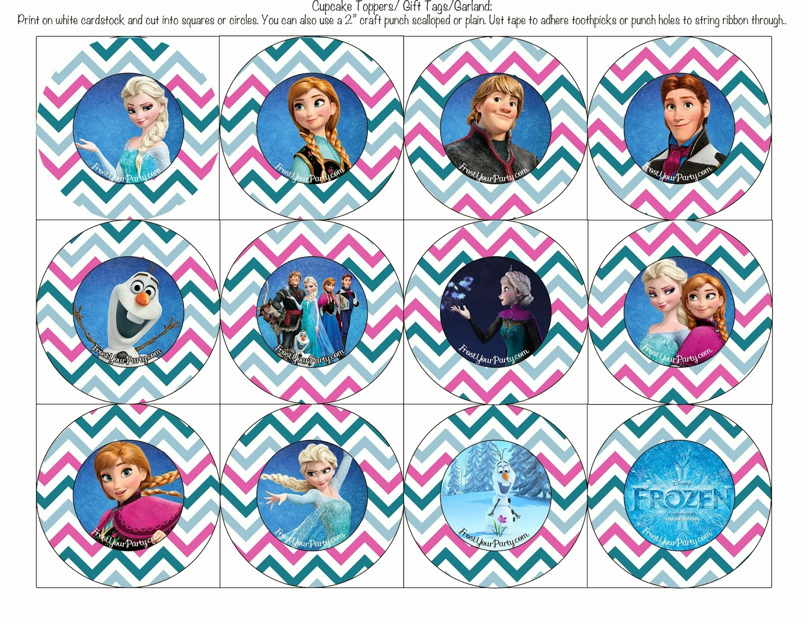 Frozen Colored Free Printable Party Kit Is It For