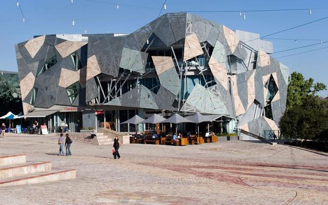 Federation Square en Melbourne, Australia.