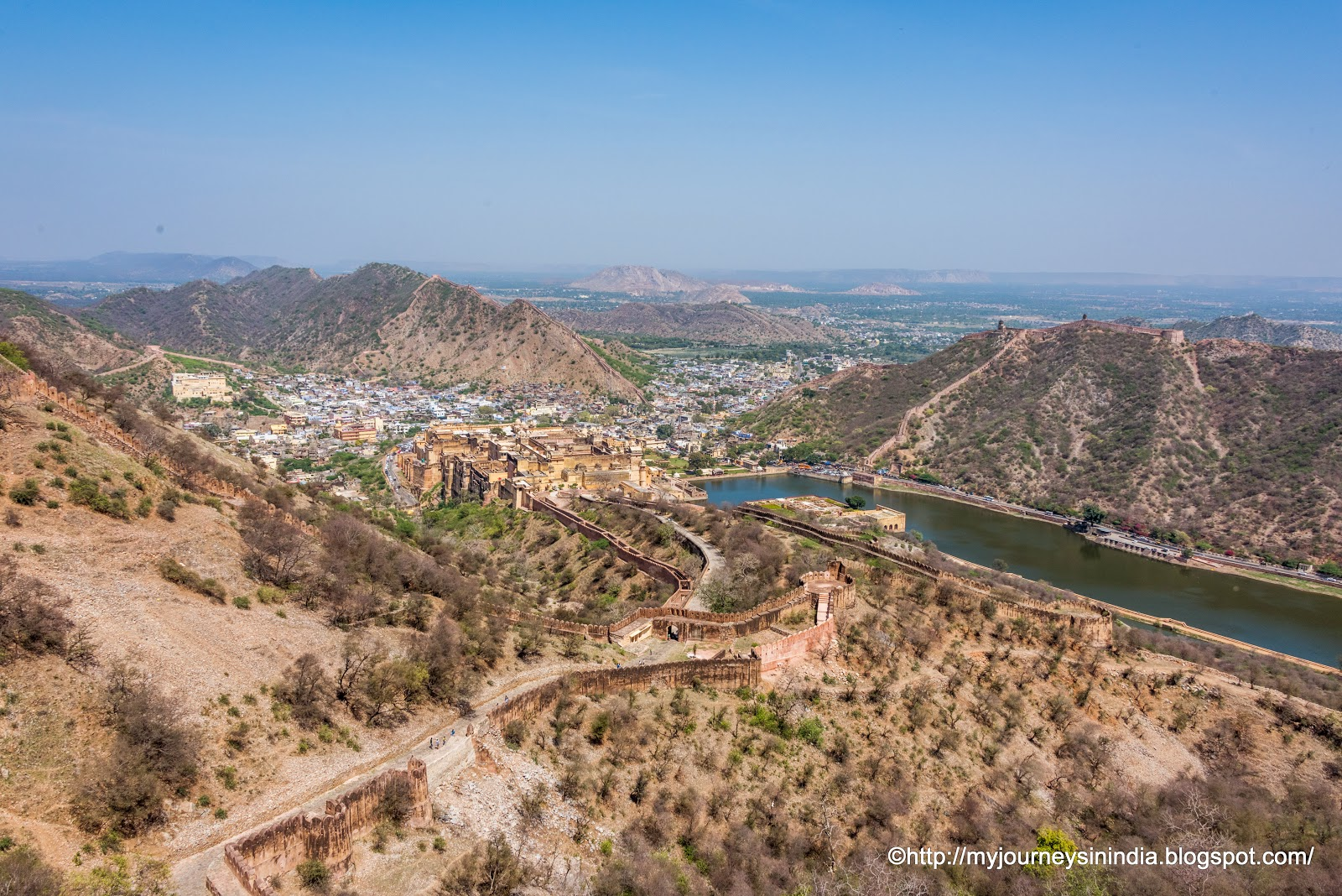 View of Maota Lake from Jaigarh Fort Jaipur