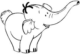 mewarnai gambar gajah untuk anak 16