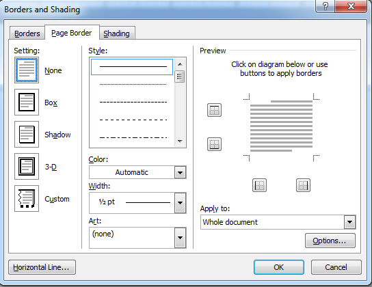 Cara Membuat Border, Page dan Shading Di Ms Word